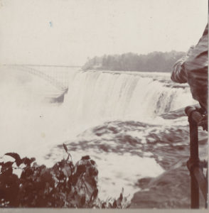 Photo of Niagara Falls taken by Edward (Ned) Vail ca. 1900