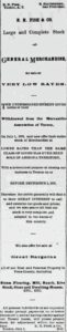 EN Fish sale ad July 28, 1876 Arizona Citizen